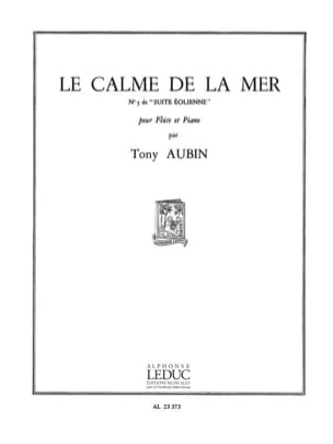 Le calme de la mer - Tony Aubin - Partition - laflutedepan.com