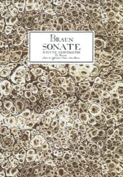 Jean-Daniel Braun - Sonate à flûte traversière et basse - Partition - di-arezzo.fr
