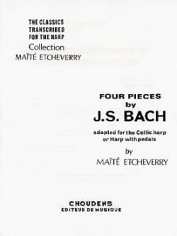 BACH - 4 Pieces of Bach adapted for Celtic harp - Sheet Music - di-arezzo.com