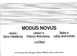 Lars Edlund - Modus Novus - Lehrbuch In Freitonaler Melodielesung - Partition - di-arezzo.fr