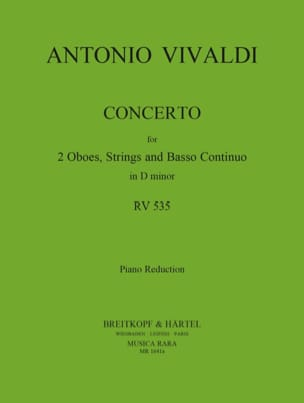 Antonio Vivaldi - Concerto In D Minor Rv 535 / P 302– 2 Oboes Piano - Partition - di-arezzo.fr