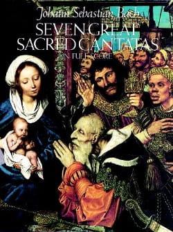 7 Great Sacred Cantatas BACH Partition Grand format - laflutedepan