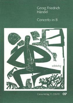 Concerto in B-Dur - Partitur - HAENDEL - Partition - laflutedepan.com