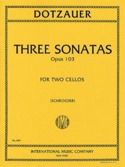 3 Sonatas op. 103 Friedrich Dotzauer Partition laflutedepan
