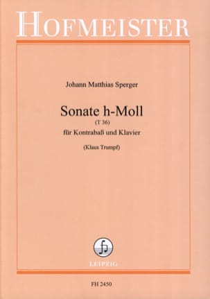 Johann Matthias Sperger - Sonata h-Moll T 36 - Sheet Music - di-arezzo.co.uk