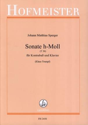Johann Matthias Sperger - Sonata h-Moll T 36 - Sheet Music - di-arezzo.com