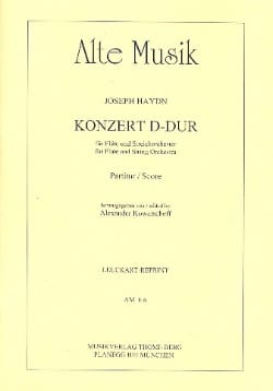 Joseph Haydn - Flöte-Konzert D-Dur – Partitur - Partition - di-arezzo.fr