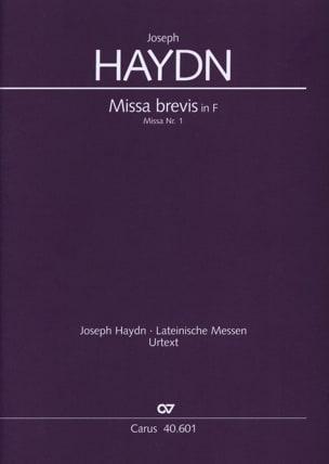 Joseph Haydn - Missa brevis in F Hob. 22: 1 – Partitur - Partition - di-arezzo.fr