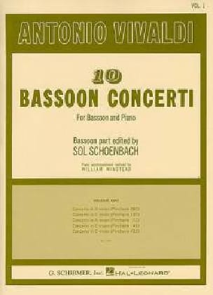 VIVALDI - 10 Bassoon Concerti - Volume 1 - Sheet Music - di-arezzo.com