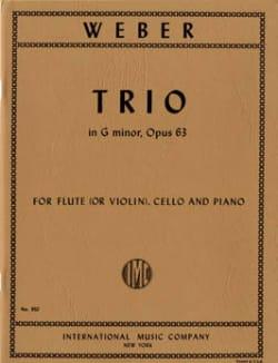 Carl Maria von Weber - Threesome Opus 63 - Sheet Music - di-arezzo.co.uk