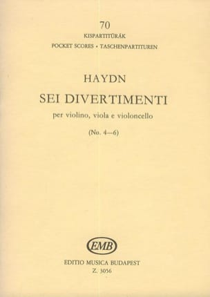 Sei Divertimenti - Volume 2 (n° 4-6) – Partitur - laflutedepan.com