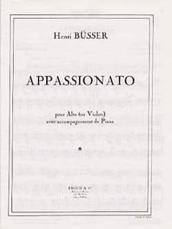 Henri Büsser - Appassionato - Opus 34 - Partition - di-arezzo.fr