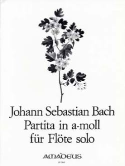 BACH - Partita in the minor BWV 1013 - flute alone - Sheet Music - di-arezzo.co.uk