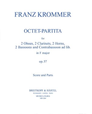 Octet-Partita op. 57 - Score + parts KROMMER Partition laflutedepan