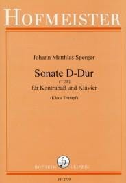 Johann Matthias Sperger - Sonate en Ré Majeur T 38 - Partition - di-arezzo.fr