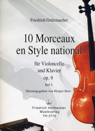 Friedrich Grützmacher - 10 Pieces in National Style op. 9, Volume 2 - Sheet Music - di-arezzo.com