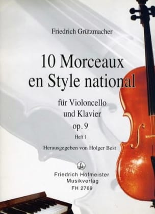 Friedrich Grützmacher - 10 Pieces in National Style op. 9, Volume 1 - Sheet Music - di-arezzo.com