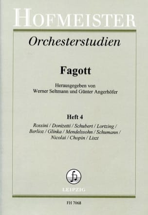 Seltmann Werner / Angerhöfer Günter - Orchesterstudien - Fagott - Heft 4 - Partitura - di-arezzo.es
