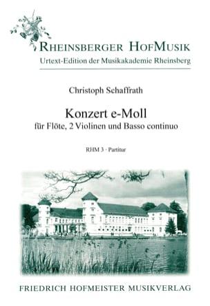 Christoph Schaffrath - Konzert für Flöte e-moll – Partitur - Partition - di-arezzo.fr