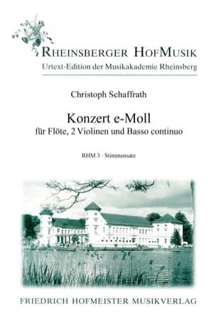 Konzert e-moll -Flöte 2 Violinen BC - Stimmen - laflutedepan.com
