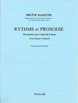 Hélène Rasquier - Rhythm and Prosody - Partition - di-arezzo.com