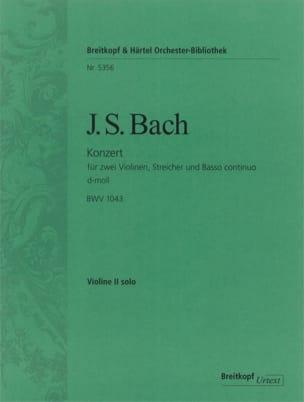 BACH - Konzert für 2 Violine D moll BWV 1043 - Conducteur - Partition - di-arezzo.fr
