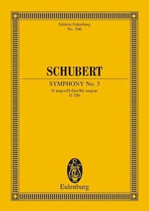 SCHUBERT - Symphonie Nr. 3 D-Dur - Partition - di-arezzo.fr