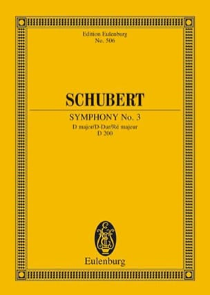 SCHUBERT - Symphony Nr. 3 D-Dur - Partitura - di-arezzo.es