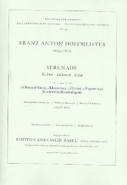 Franz Anton Hoffmeister - Sérénade Es-Dur – Partitur - Partition - di-arezzo.fr