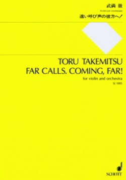Toru Takemitsu - Far calls. Coming, far ! - Partitur - Partition - di-arezzo.fr
