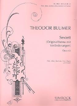 Sextett op. 45 - Flöte Oboe Klar. Horn Fag. Klavier - laflutedepan.com