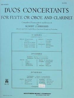 Duos concertants - 2ème Série - Flûte clarinette laflutedepan