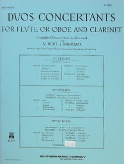 Albert J. Andraud - Duos concertants - 1ère Série - Flûte clarinette - Partition - di-arezzo.fr