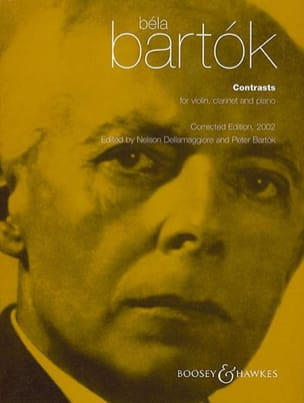 BARTOK - Contrasts - Violin clarinet piano - Parts - Sheet Music - di-arezzo.co.uk