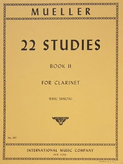 22 Studies - Volume 2 – Clarinet - Ivan Mueller - laflutedepan.com