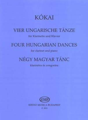 4 Ungarische Tänze - Clarinette et Piano Rezso Kokaï laflutedepan