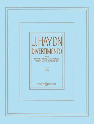 HAYDN - Divertimento - Wind quintet - Score + parts - Partition - di-arezzo.fr