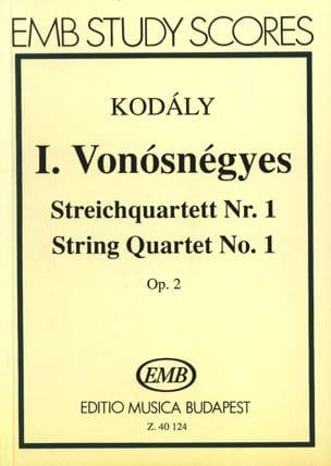 Zoltan Kodaly - Quatuor à cordes n° 1 op. 2 - Conducteur - Partition - di-arezzo.fr