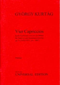 4 Capriccios, op. 9 - KURTAG - Partition - laflutedepan.com