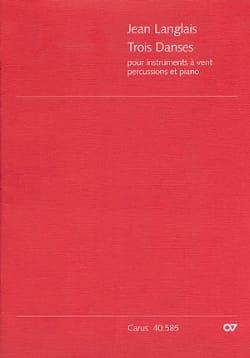 Jean Langlais - Trois danses – Conducteur - Partition - di-arezzo.fr