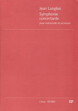 Jean Langlais - Symphonie concertante op. 20 – Score - Partition - di-arezzo.fr