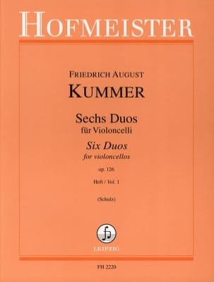 Friedrich-August Kummer - 6 Duos op. 126 Heft 1 - Partition - di-arezzo.fr
