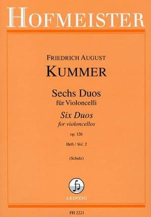 6 Duos op. 126 Heft 2 August Friedrich Kummer Partition laflutedepan