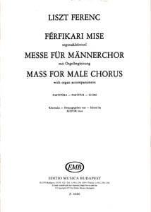 Messe für Männerchor - Partitur - Franz Liszt - laflutedepan.com