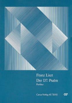 Der 137. Psalm - Partitur Franz Liszt Partition laflutedepan