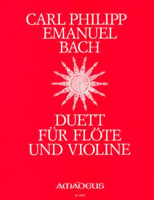 Carl Philipp Emanuel Bach - デュエット - フルートとバイオリン - 楽譜 - di-arezzo.jp