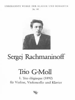 RACHMANINOV - Trio Elégiaque en Sol Min 1892 - Partition - di-arezzo.fr