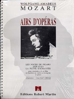 MOZART - Airs of operas - Flute (or clarinet ...) piano - Sheet Music - di-arezzo.com