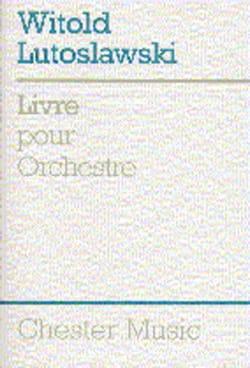 Livre pour orchestre - Score Witold Lutoslawski Partition laflutedepan