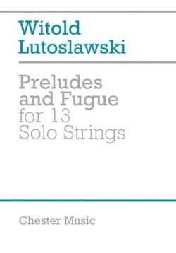 Preludes and Fugue for 13 solo strings - Score - laflutedepan.com